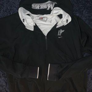 Vintage Nike Marlins coach jacket with hoodie